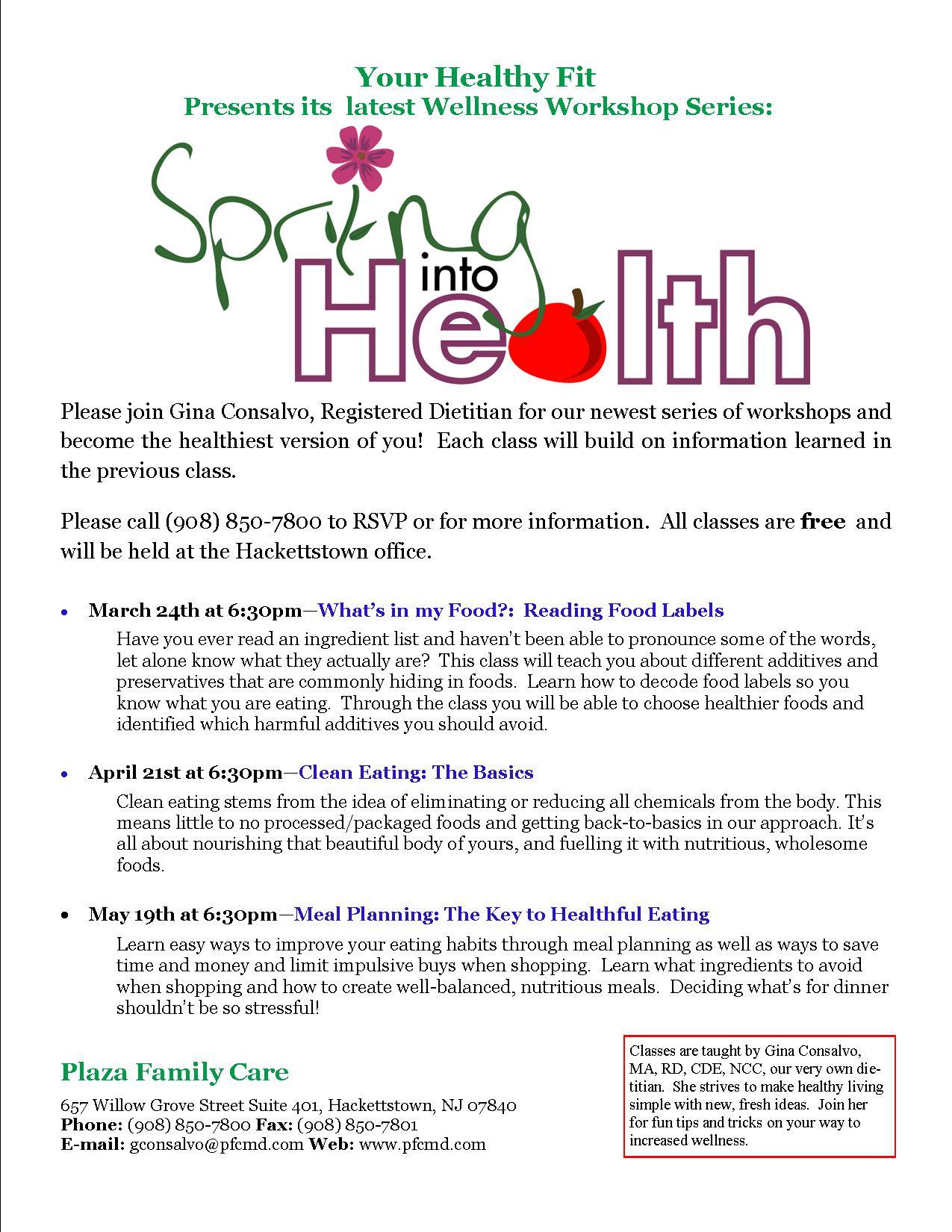 Spring Into Health 2015